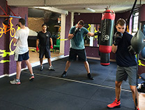 Boxing classes at Hiscoes Gym, Surry Hills