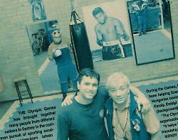 Istvan Solyon and Imre Szanto at Istvan's Eastern Suburbs boxing gym in Daceyville
